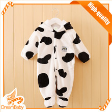 Bontique girl clothing animal shape romper polar fleece autumn style footed newborn romper One-piece baby romper