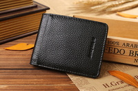 Leather mens money clip wallets