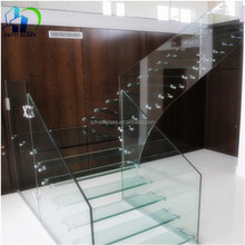 laminated glass different thickness for balustrade handrail railing floor partition wall