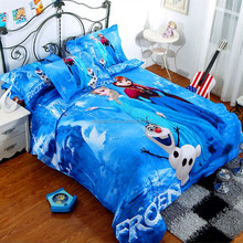 2014 HOT Sale Movie Frozen Set of 3D bedding set for chindren