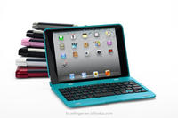 For iPad Mini1/2/3 plastic Blueooth keyboard case with many colors