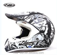 Huadun black cross motorcycle helmet, DOT/ECE stanard,HD-802
