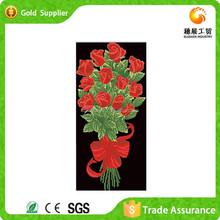 Diy diamond mosaic beautiful red rose flower oil painting on canvas