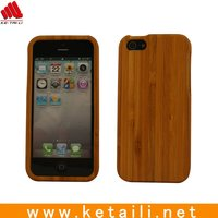 Hot sale blank natural wood case for iphone 5 5s