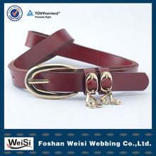 Fanshion real leather belt pin alloy buckle