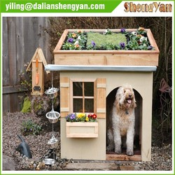 Wooden Dog House With Garden Roof