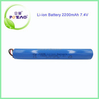 China supplier rechargeable battery icr18650 2s1p 7.4v 2200mah li ion battery pack with samsung cells 3.7v battery