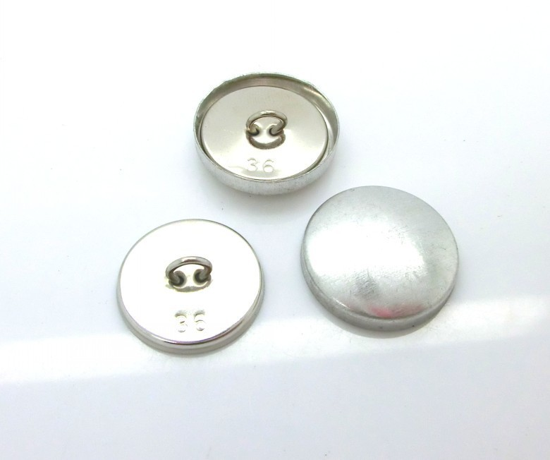 6 high-quality silver x 22 mm hemisphere buttons metal buttons buttons