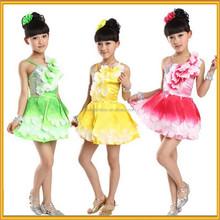 Dernières robe designs, Enfants été robes de danse de salon, Enfants latine robe