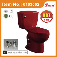 China Porcelain bathroom wine red colored toilet