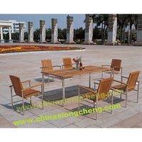 Stainless steel teak furniture