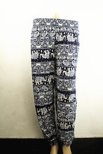 Harem Loose Baggy Pants summer Indian Pants AladdinYoga Hippie printed elephant pants