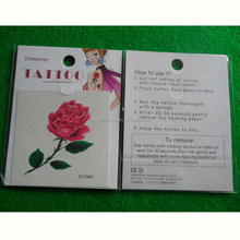 safe non-toxic pass test report fashion rose ankle temporary tattoo