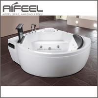 Acrylic Freestanding small bath massage whirlpools acrylic bathtub bathroom tub with tv waterproof