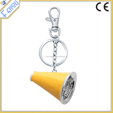 Wholesale Yellow Enamel trumpet Keychain With Lobster Clasp
