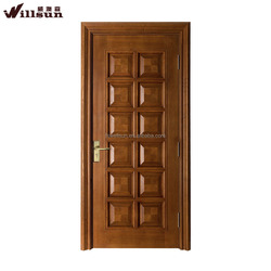 Decorative front single wooden flush door interior doors with economic price