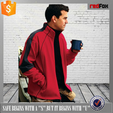 red windproof softshell jacket for men