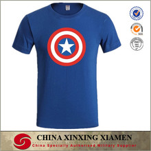 Men Stylish Spring Summer Cool Dri Performance Dye Sublimation Dry-fit Elongated T Shirt Wholesale with captain america pattern