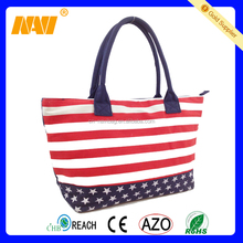 2015 colorful striped canvas striped beach bag