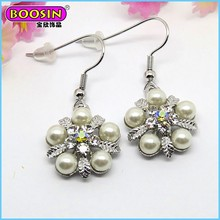 2015 New Arrival Fashion cheap artificial hook latest design pearl earring