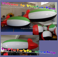 Arab flag inflatable helium airship/air helium blimp