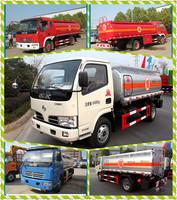 Small 4x2 LHD RHD Oil Transportation Tanker Truck with refuel pump 5cbm Fuel Diesel oil Tank Truck For sale
