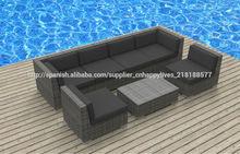 sofás de mimbre muebles de jardín de lujo