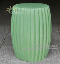 Special oriental ceramic outdoor green stool also can for indoor
