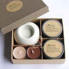 Promotional Gifts 2015/Aromatherapy Candles Gift set with High-grade Chinese Binglie Glaze