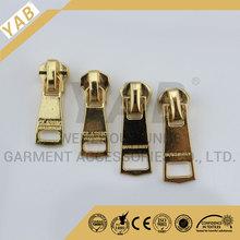 quality metal plated gold auto lock zipper slider