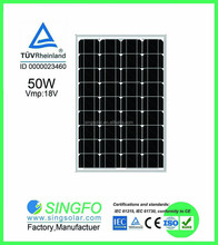 High quality efficiency cheap best selling 50W Mono Solar Panel in China