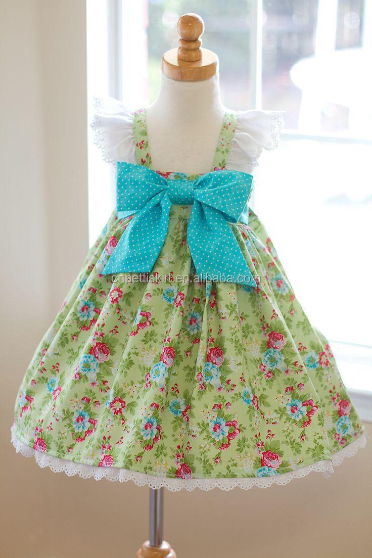 New Design Baby Cotton Frocks Skirt100 Cotton Dresses Baby Girls
