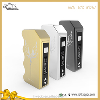 Wholesales VIC 80w box Mod Ready goods OEM magnetic copper pin 510thread 18650 box mod vaping box mods uk