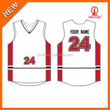 basketball jerser/sportswear/basketball sets uniform 100% polyester customised design