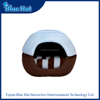 Latest designed cozy burger bun pet cat bed