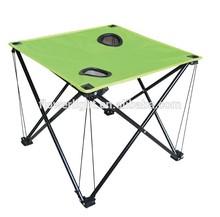 Venta al por mayor precio bajo de la alta calidad de metal mesa de camping plegable