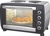 CZ45G-H SS toaster electric oven with two hotplate