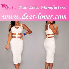 Women clothing paypal accept white cut out knee bodycon midi dress