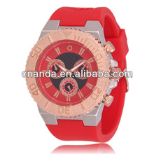2014 Silicone Quartz Big Size The Best Looking Watch Man