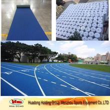 Blue outdoor sports surface running track flooring for stadium