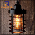 Estilo antiguo colgante Artcraft iluminación Industrial hierro jaula de la lámpara colgante