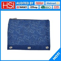 CrossBones Pattern oxford fabric drawing pencil case/ 3 ring binder drawing pencil case/rectangle drawing pencil case