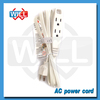 3 Outlet Power Extension Cord Flat Cable White