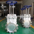 china fabricante de acero inoxidable ansi válvula de guillotina