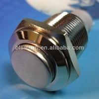 White Power/Angel Eye 12V LED Button Metal Switch 16mm Push ON/OFF