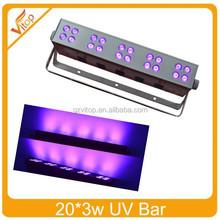 sharpy beam 20pcs 3watt UV bar light on stage lighting for dj club used