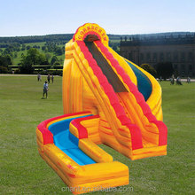 top sale inflatable combo inflatable slide with water pool