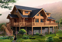 2015 hotest new design wood house thailand villa factory direct sales