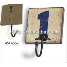 New style numbers metal hook for clothes hanger,Retro anchor coat hook