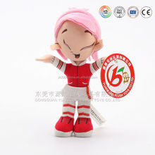 SEDEX Audited factory making plush lovely girl doll,Online doll dress-up girl games